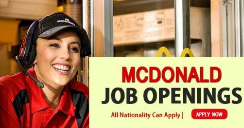 McDonalds Job Opportunities