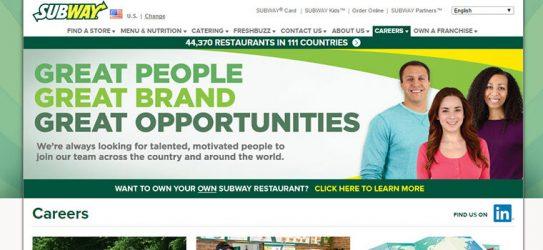 subway Job Opportunities