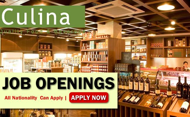 Culina Pte Ltd Job Opportunities